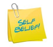 Self belief post illustration design Royalty Free Stock Images