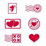 Selos do dia de Valentim Foto de Stock Royalty Free