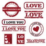 Selos do Valentim Foto de Stock