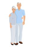 Senior couple full length Royalty Free Stock Photography