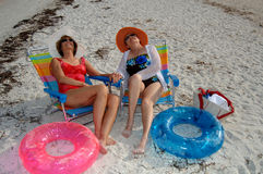 Senior friends beach vacation Royalty Free Stock Images