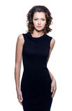 Sensuality woman in black dress Royalty Free Stock Image