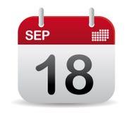 Sep calendar stand up Stock Photos