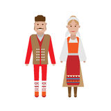 Serbian national costume Stock Photo