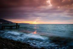 Serene Bay Sunset Environment Royalty Free Stock Photos