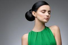 Serene brunette Stock Photography