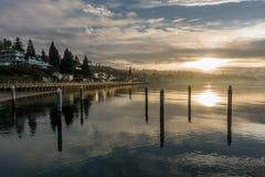 Serene Peaceful Sunset Stock Image