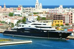 Serene yacht Stock Images