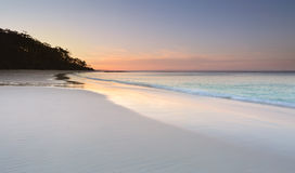 Serenity at Murrays Beach at sundown Stock Images