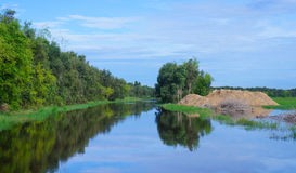 Serenity river in Vietnam Stock Image