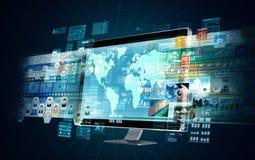 Servidor dos multimédios do Internet Imagem de Stock Royalty Free