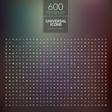 Set of 600 universal modern thin line icons for we Stock Images