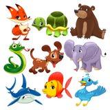Set of animals. Royalty Free Stock Photo