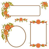 Set of autumn frames or banners Stock Photos