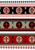 Set of backgrounds  with heraldic symbols Royalty Free Stock Photography