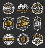 Set of bicycle badge logo template design Stock Image
