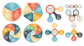 Set of business circle info graphic, diagram Royalty Free Stock Photos
