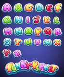 Set of cartoon colored letters for decoration of different names for games. books and web design Royalty Free Stock Photography