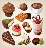 Set of chocolate food Royalty Free Stock Photo