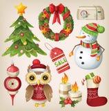 Set of christmas items Stock Photo