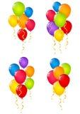 Set of color balloons Stock Photos
