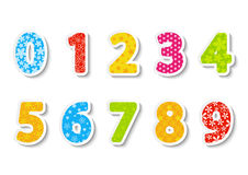 Set of color numbers Royalty Free Stock Photography