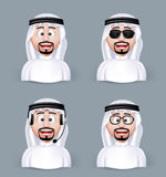 Set of 3D Dimension Arab Man in Different Professional Royalty Free Stock Photo