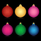 Set of decorated Christmas balls Royalty Free Stock Photography