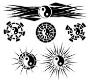 Set of decorated tao isolated Royalty Free Stock Image