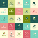 Set of flat design beauty and nature icons Stock Image