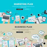 Set of flat design illustration concepts for business plan and marketing plan Stock Image