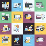Set of flat design style icons for graphic and web design Royalty Free Stock Image