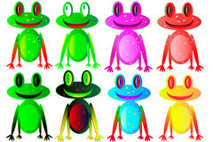 Set of the frogs Royalty Free Stock Photo