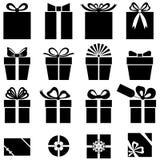 Set of gift icon Royalty Free Stock Photos