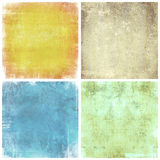Set of grunge backgrounds with space for text Stock Images