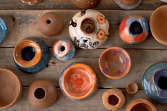 A set of handmade pottery Royalty Free Stock Images