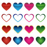 Set of heart icons Royalty Free Stock Image
