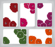 Set of hibiscus flowers and Brochures. Vector Design Templates Collection for Banners, Flyers, Card and Placards backgrounds. Stock Images