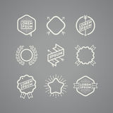 Set of hipster emblems Royalty Free Stock Photography
