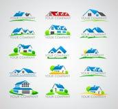Set of house logo Royalty Free Stock Photography