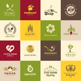 Set of icons for food and drink Stock Photos