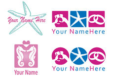 Set of logo for wedding planner and co. Royalty Free Stock Images