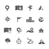 Set of map navigation icon vector illustration Royalty Free Stock Photos