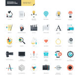 Set of modern flat design icons for graphic and web designers Stock Image