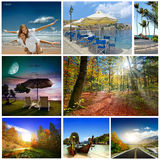 A set of photos of summer holidaym Royalty Free Stock Photography