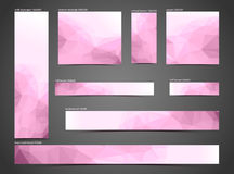 Set of pink web banners Royalty Free Stock Photography