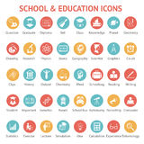 Set of school and education icons Stock Photo