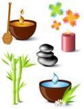 Set of spa treatment symbols Royalty Free Stock Image