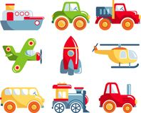 Set of toys transportation Royalty Free Stock Photo