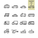 Set of transport icon. Royalty Free Stock Images